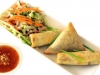 Deepfried Vegetable Spring Rolls